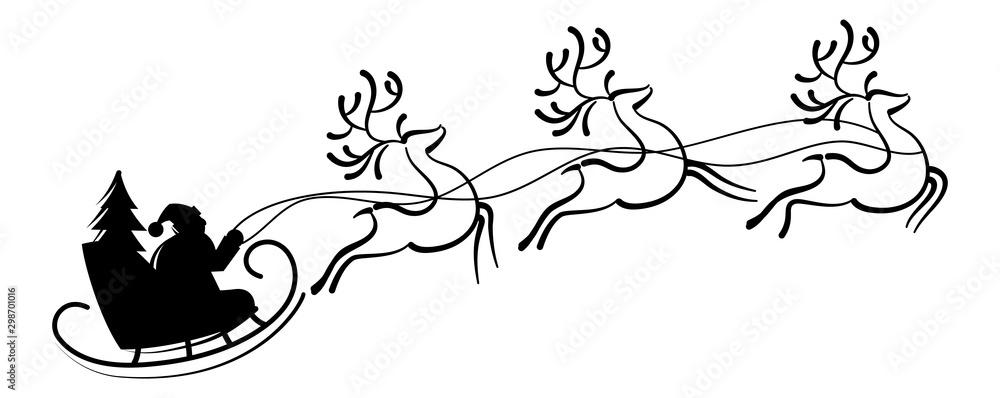 Fototapety, obrazy: Reindeer Santa