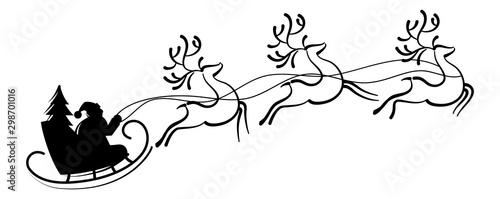 Pinturas sobre lienzo  Reindeer Santa