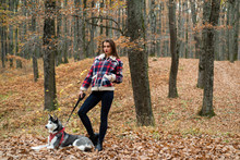 Woman With Her Dog Chose A Gre...