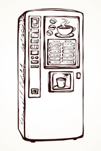 Coffee Maker. Vector Drawing