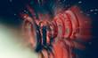Leinwanddruck Bild - 3D rendering of abstract technology digital hi tech concept