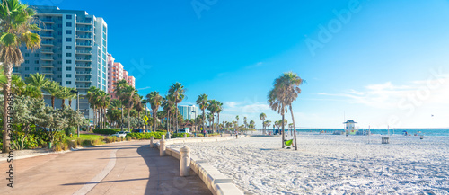Clearwater beach with beautiful white sand in Florida USA - 298709689
