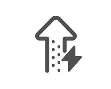 Thunderbolt Sign. Energy Icon....