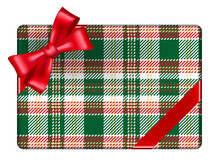 Christmas Gift In Tartan Wrapp...
