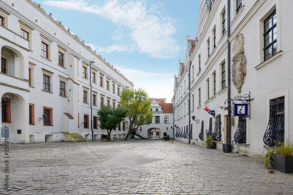 Courtyard of the Ducal Castle in Szczecin, Poland, former seat of the dukes of Pomerania-Stettin