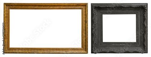 Obraz Antique gold antique picture frames - fototapety do salonu