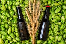 Glass Bottles Of Beer, Green C...