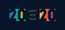 Happy New Year 2020 Banner. Br...