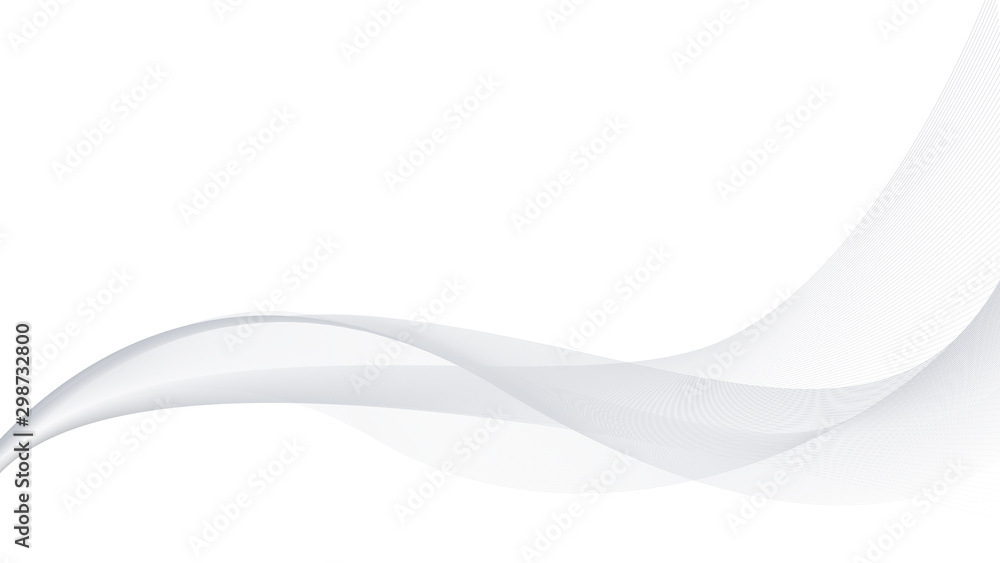 Fototapety, obrazy: Modern white and gray wave background