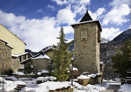 Photo Casa de la Vall in Andorra la Vella. Andorra