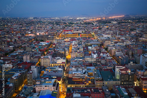 Panoramic view of Mexico City from the observation deck at the top of Latin Amer Tablou Canvas