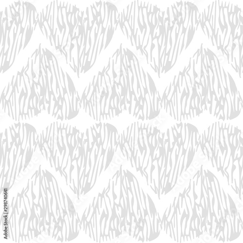 Montage in der Fensternische Künstlich Vector seamless pattern with hearts shape in a modern style. Happy Valentines day illustration. For wallpaper, pattern fills, web page, textures, textile, wrapping paper