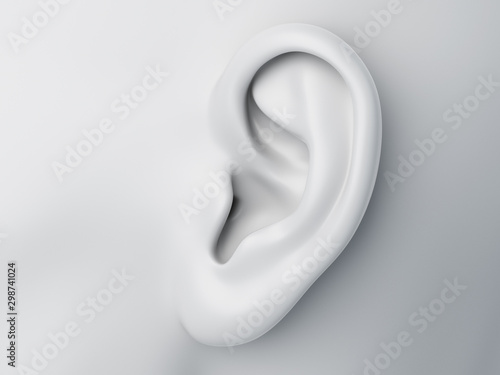 3d rendered medically accurate illustration of a grey abstract female ear Fototapet