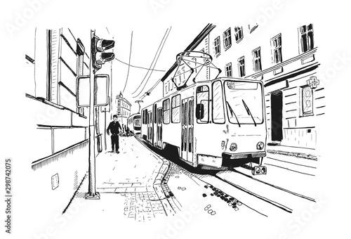 szkic-wektor-sceny-ulicznej-w
