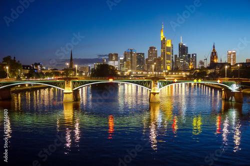 Cuadros en Lienzo Skyline of Frankfurt am Main