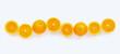 Leinwandbild Motiv Fresh orange citrus fruit with leaves isolated on white background.
