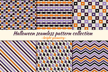 Halloween Seamless Pattern Col...
