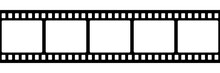 Film Strip Isolated Vector Ico...