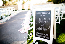Bride And Groom Aisle Seating ...