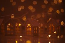 Glowing Houses Christmas Card