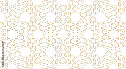 Seamless pattern background in authentic arabian style. Canvas Print
