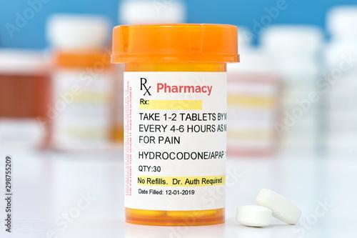 Valokuva  Hydrocodone Prescription Bottle