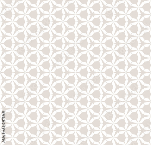 Tapety Beżowe subtle-white-and-beige-vector-seamless-geometric-pattern-with-hexagonal-grid