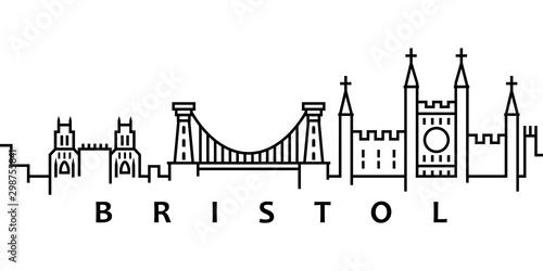 Fotografía  Bristol cityscape illustration