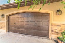 Garage Door With An Arched Des...
