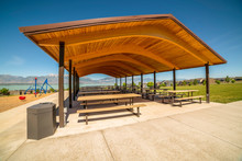 Pavilion At A Park With View O...