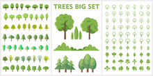 Set Of Forest And Park Trees F...