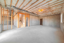 Interior Of New Home Room Unde...