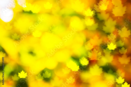 Foto auf Gartenposter Gelb Autumn leaves autumn landscape background