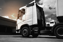 The Semi Truck Trailer Parking...