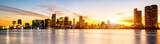 Fototapeta Miasto - Miami city by night