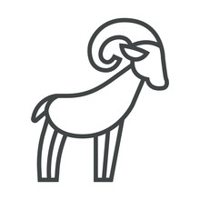 Line Icon Mountain Sheep