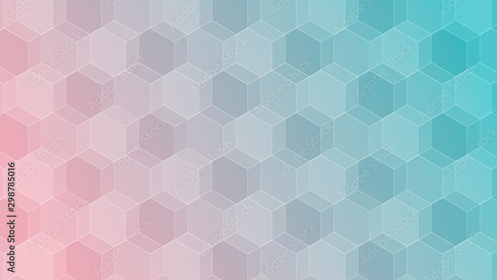 Fototapety, obrazy: Abstract pattern of geometric shapes background. Colorful gradient mosaic backdrop.