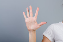 Female Hand In Fist Showing Fi...