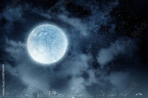 Obraz Full moon background . Mixed media - fototapety do salonu