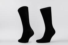 Blank Black Cotton High Socks ...