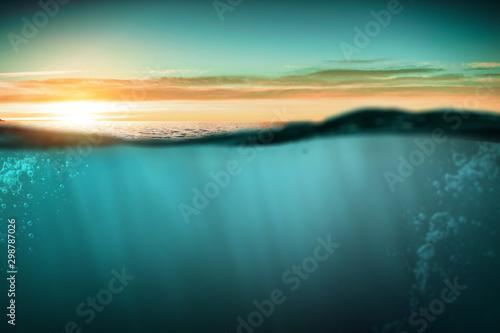 Obraz Blue under water . Mixed media - fototapety do salonu