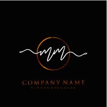 MM Initial Handwriting Logo Wi...