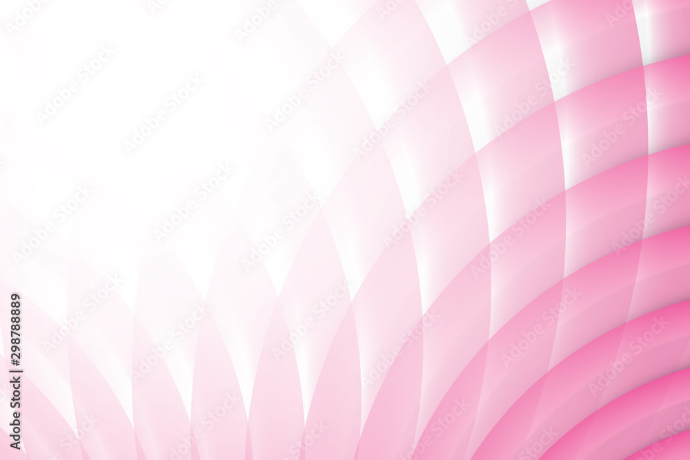 Fototapety, obrazy: Abstract geometric pink and white color background. Vector, illustration.