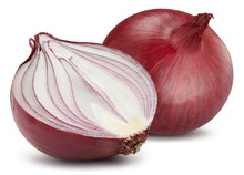 Red Onions Isolated. Onions Cl...