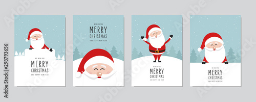 Christmas card set Fototapet