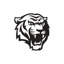 Roaring Tiger Logo Design Vect...