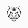 Roaring tiger logo design vector illustration