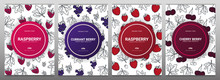 Sert Of Berries Banners With R...