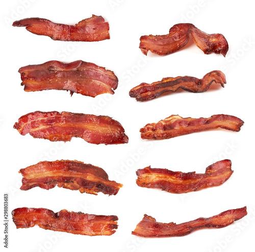 bacon on white Billede på lærred