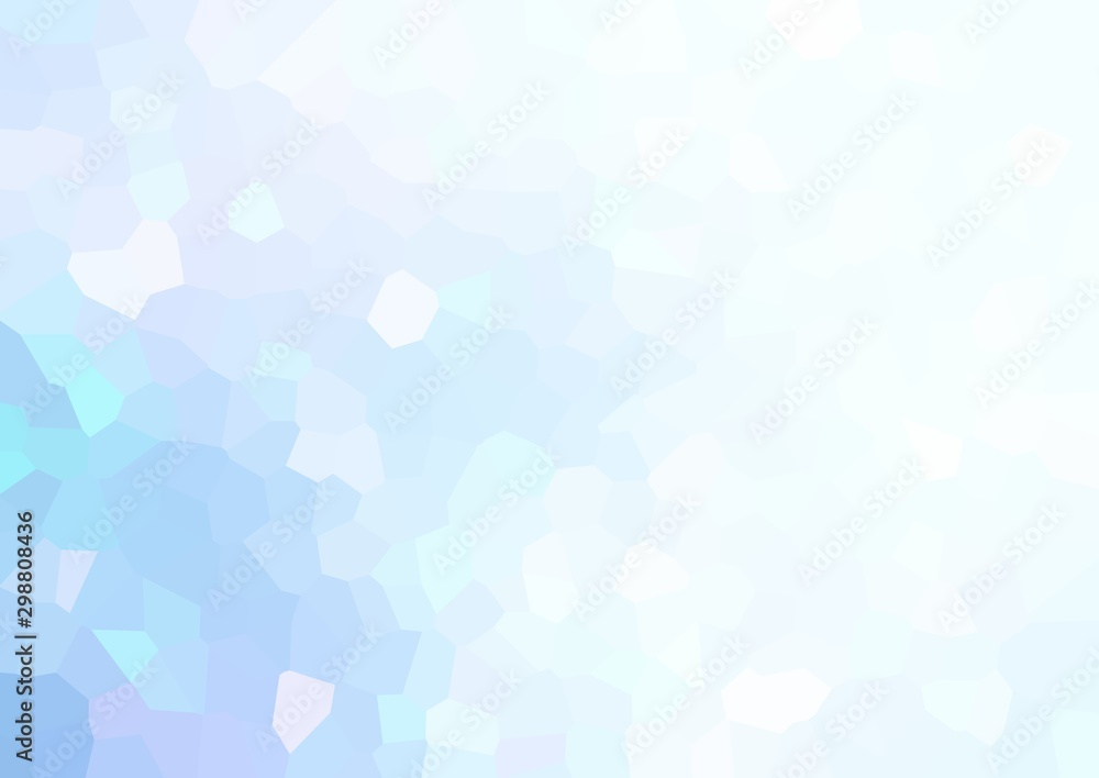 Fototapety, obrazy: Clear blue geometric empty background. Glare decorative glass texture. Gleam mosaic abstract illustration. Winter polygon pattern.